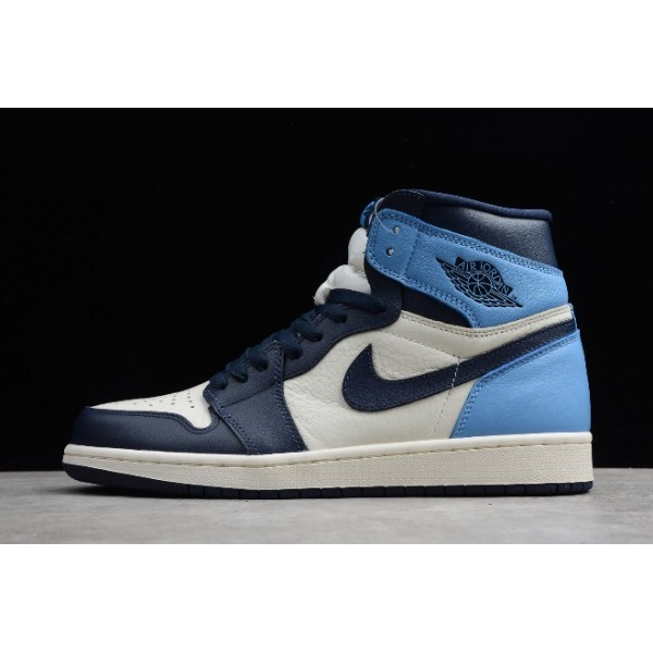 Men Air Jordan 1 Retro High OG Obsidian University Blue