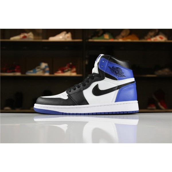 Men Air Jordan 1 Retro High OG Summit White Black-Blue