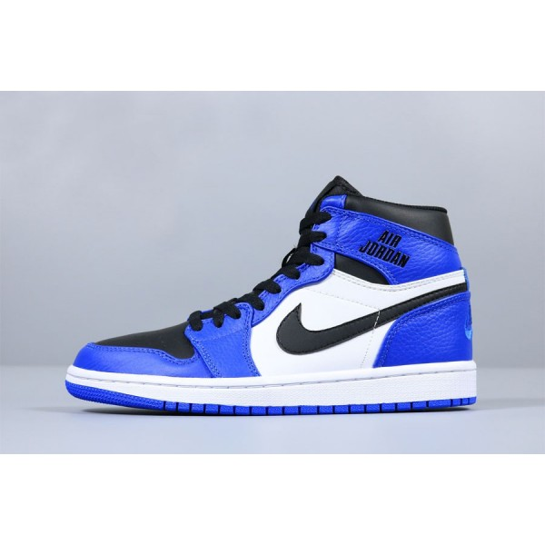 Men New Air Jordan 1 High Rare Air Soar Blue Black-White