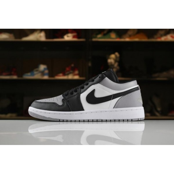 Men/Women New Air Jordan 1 Low White Atmosphere-Black