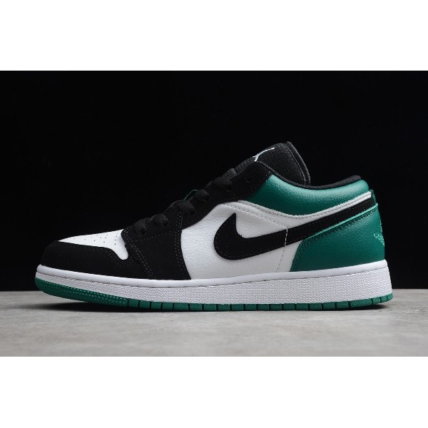 Men/Women New Air Jordan 1 Low White Black Green