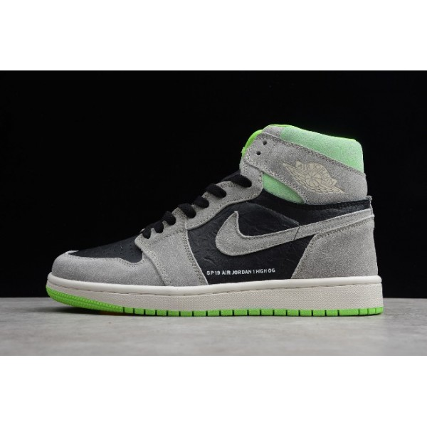 Men/Women New Air Jordan 1 Retro High OG Neutral Grey Gunsmoke-Volt
