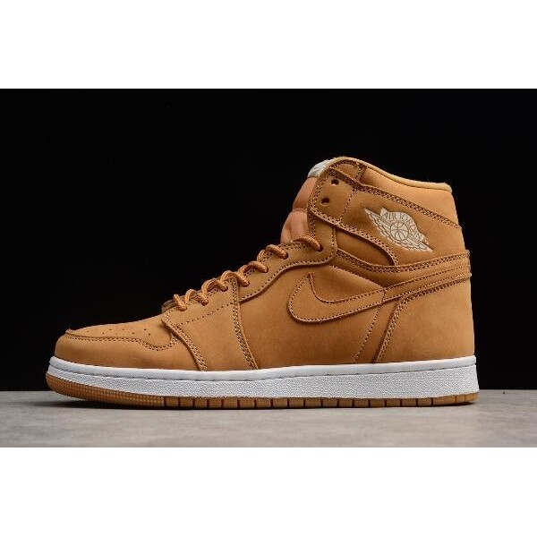 Men New Air Jordan 1 Retro High OG Wheat Basketball Shoes