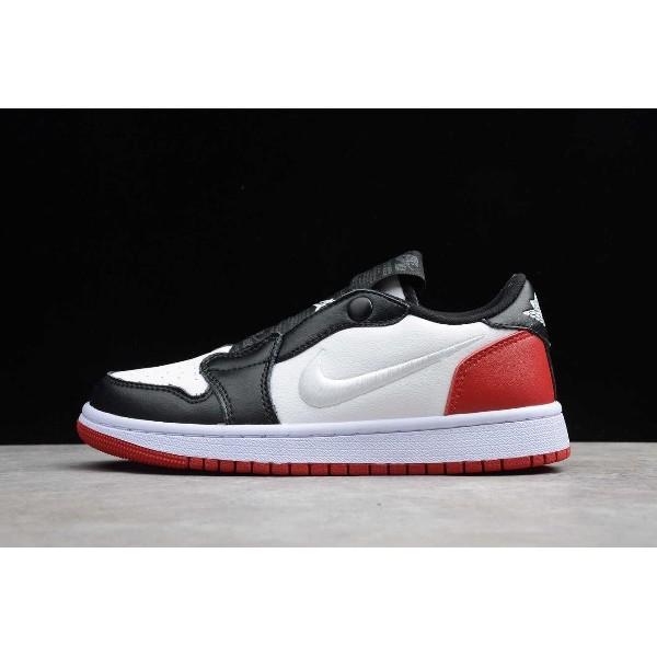 Men/Women Nike Air Jordan 1 Retro Low Slip Black Toe