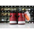 Men OFF-WHITE x Air Jordan 1 High OG 10X Bred Black Varsity Red-White