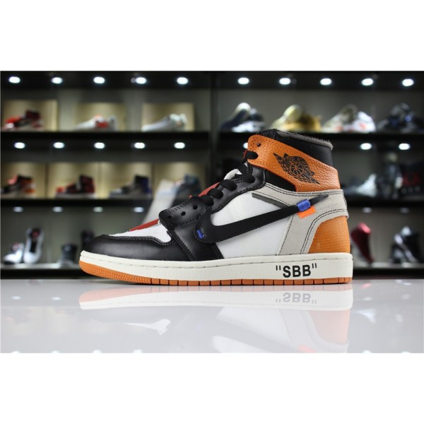 Men OFF-WHITE x Air Jordan 1 Retro High OG 10X Shattered Backboard