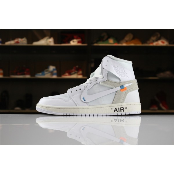 Men/Women Off-White x Air Jordan 1 High NRG White