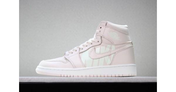 x Air Jordan 1 Nike Swoosh Pink White