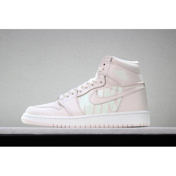 Men/Women Off-White x Air Jordan 1 Nike Swoosh Pink White