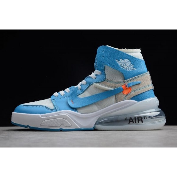 Men Off-White x Nike Air Force 270 x Air Jordan 1 High UNC