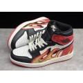Men Palm Angels x Air Jordan 1 Retro High OG Black White-Red