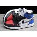Men/Women The Air Jordan 1 Retro High OG Black Red-Brilliant Blue