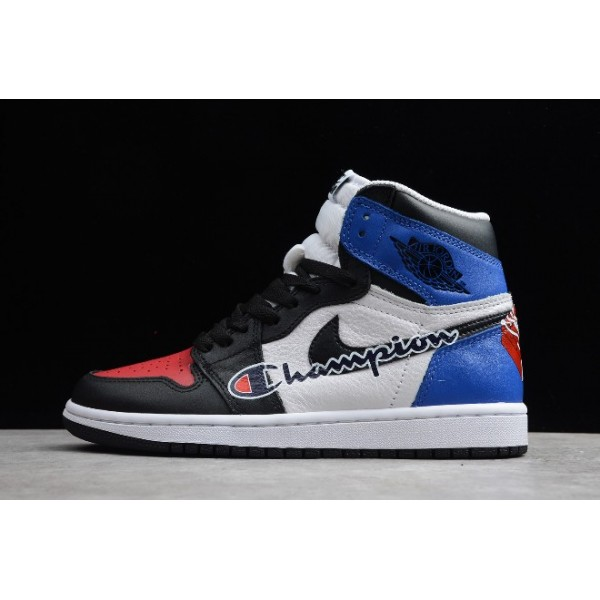 Men/Women The Air Jordan 1 Retro High OG Black Red-Brilliant Blue