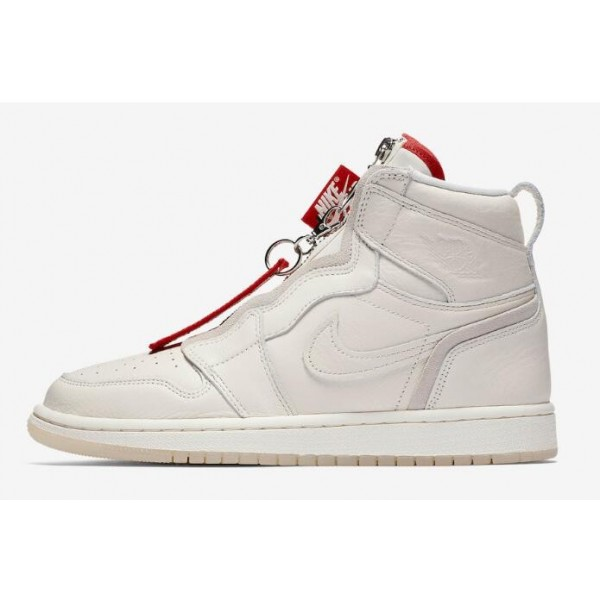 Men/Women Vogue x Air Jordan 1 High Zip AWOK Sail University Red