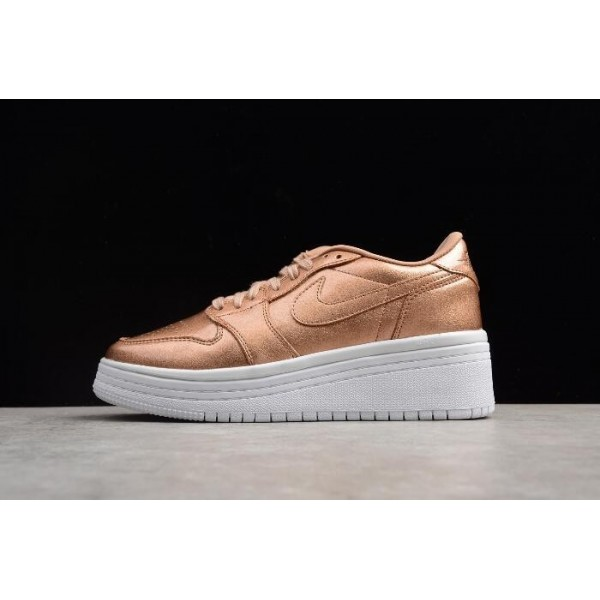 Women Air Jordan 1 Low Lifted Metallic Red Bronze Sail