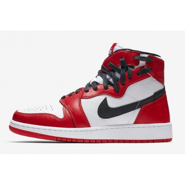Women Air Jordan 1 Rebel Chicago White Varsity Red-Black