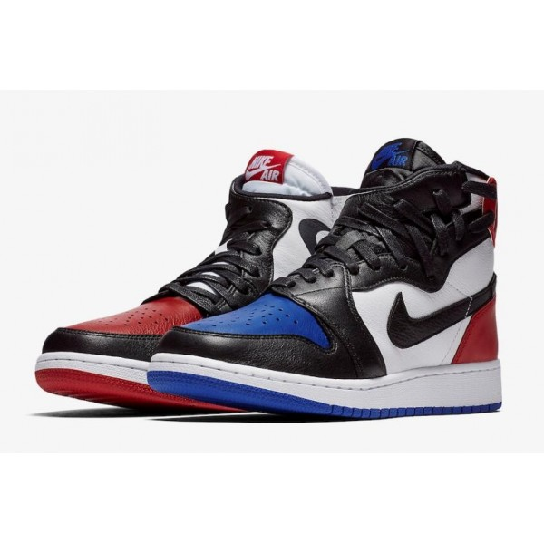 Women Air Jordan 1 Rebel Top 3 White Black-Varsity Red-Varsity Royal