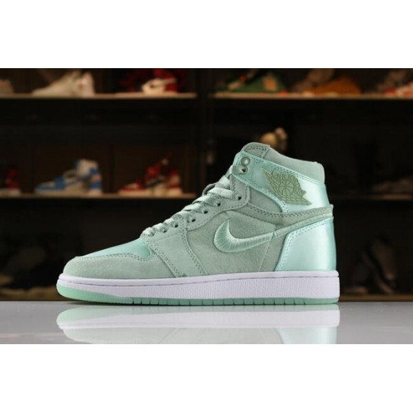 Women Air Jordan 1 Retro High SOH Mint Foam White-Metallic Gold