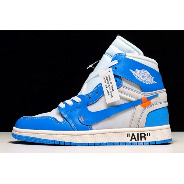 Women Air Jordan 1 Off White UNC AQ0818-148