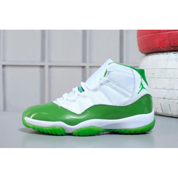 Men Air Jordan 11 Apple Green-White M07105634