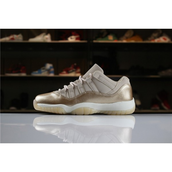 Men/Women Air Jordan 11 Low Rose Gold AH7860-105