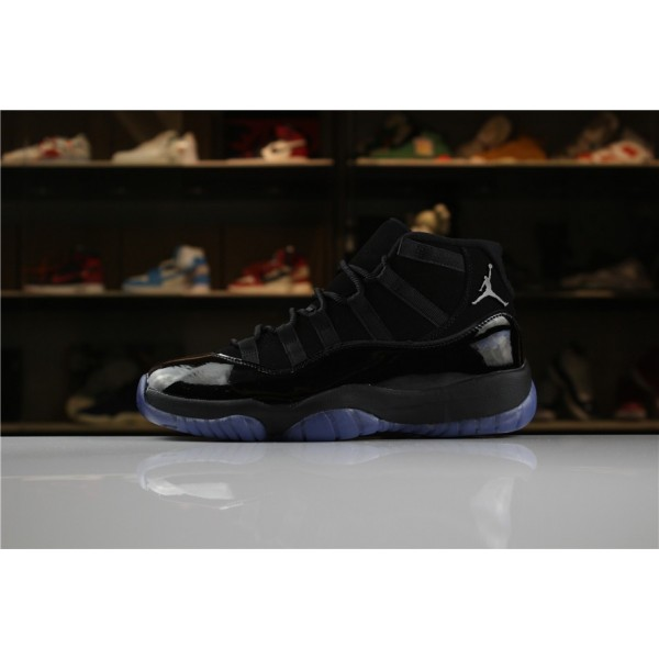 Men All-Black Air Jordan 11 XI Cap And Gown
