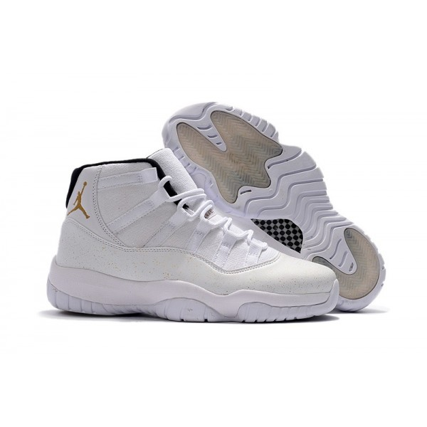 Men Air Jordan 11 OVO White Gold