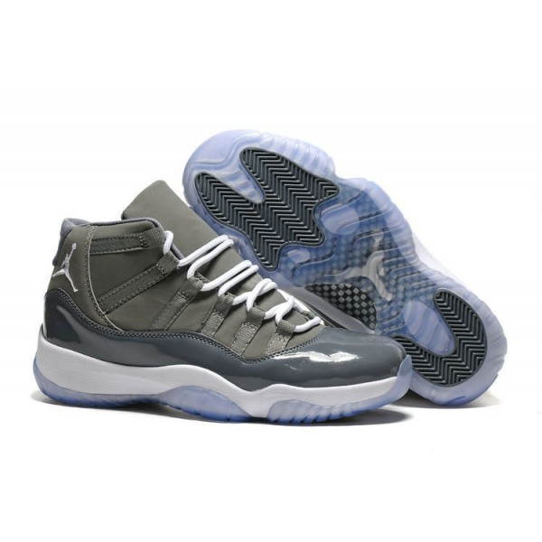 Men/Women Air Jordan 11 Retro Cool Grey Medium Grey-White Release