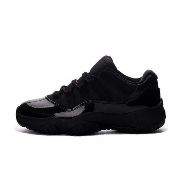 Men/Women Air Jordan 11 Retro Low Black Pink Shoes