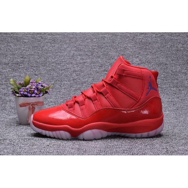 Men Chris Paul Air Jordan 11 Clippers PE Red Blue Shoes