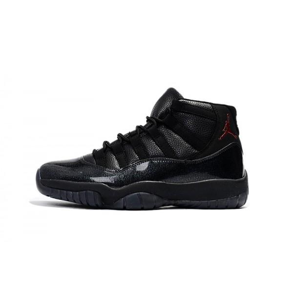 Men New Air Jordan 11 Black Devil Basketball Shoes