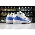 Men/Women New Air Jordan 11 Low Columbia White-University Blue