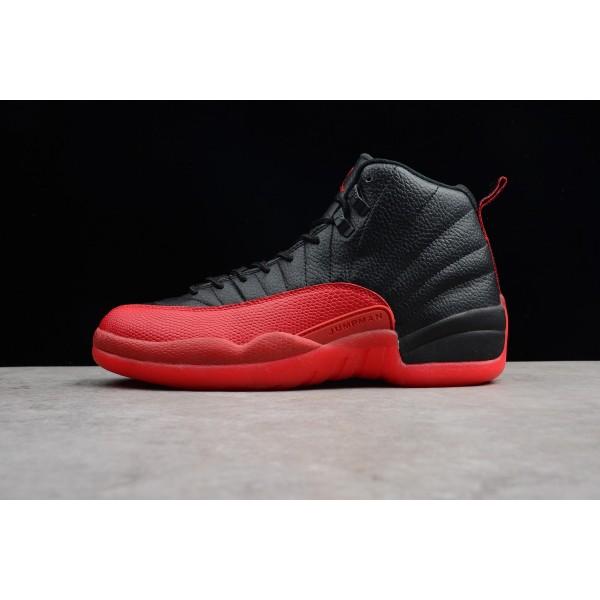 Men Air Jordan 12 Retro Flu Game Black-Varsity Red
