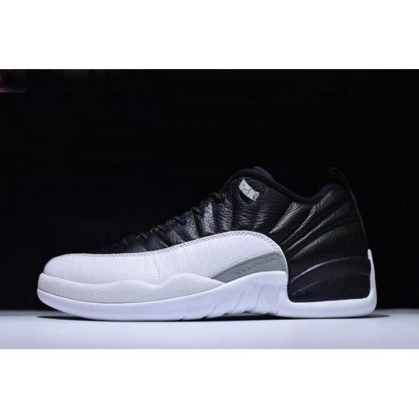 Men Nike Air Jordan 12 Low Playoffs Black-Varsity Red-White