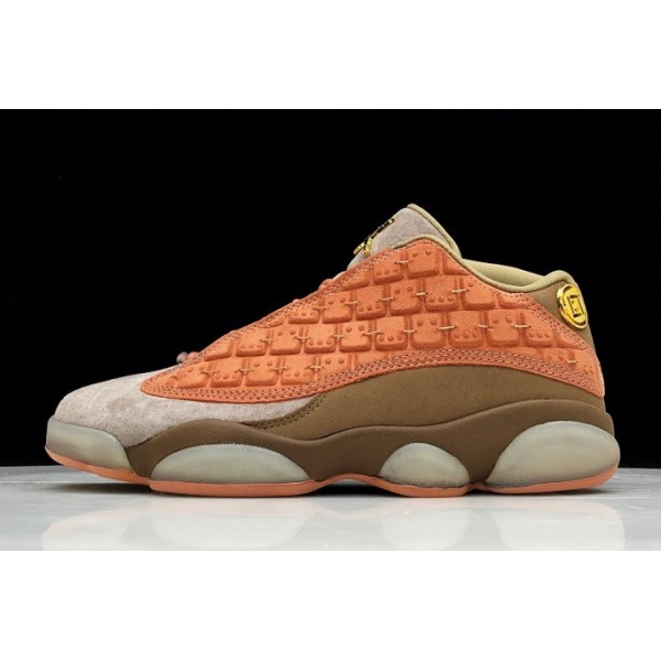 Men/Women Air Jordan 13 Low x Clot Terra Blush Terracotta Warriors
