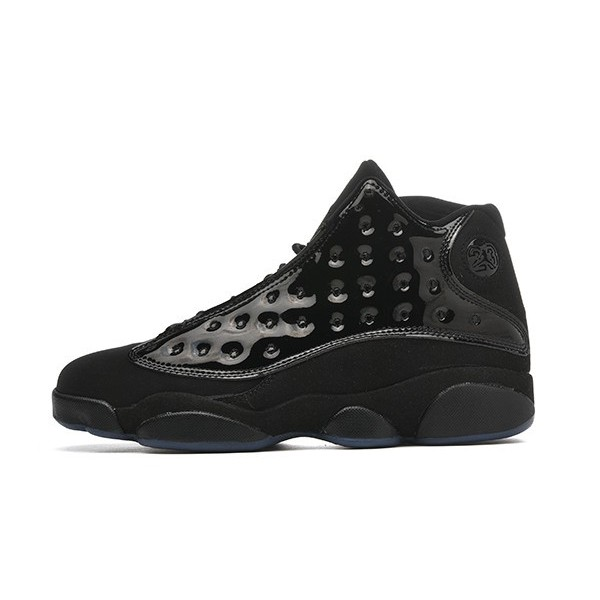 Men Air Jordan 13 Retro Cap and Gown Black