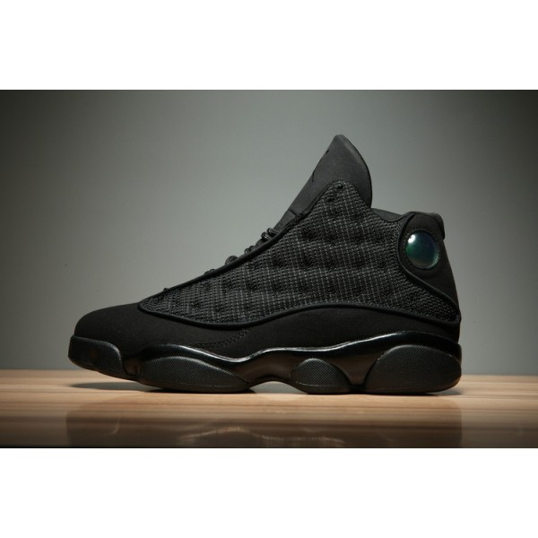 Men/Women Air Jordan 13 Black Cat Black-Anthracite-Black
