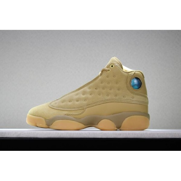 Men/Women Air Jordan 13 Wheat Golden Harvest-Elemental Gold