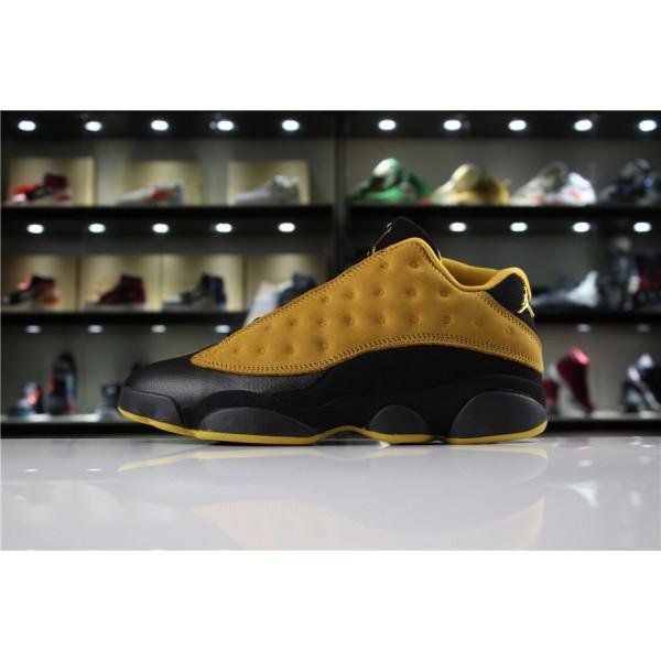 Men Air Jordan 13 Low Chutney Chutney-Black-White