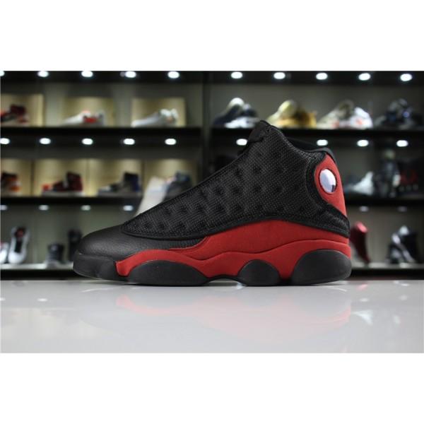 Men/Women Air Jordan 13 Retro Bred Black-True Red-White
