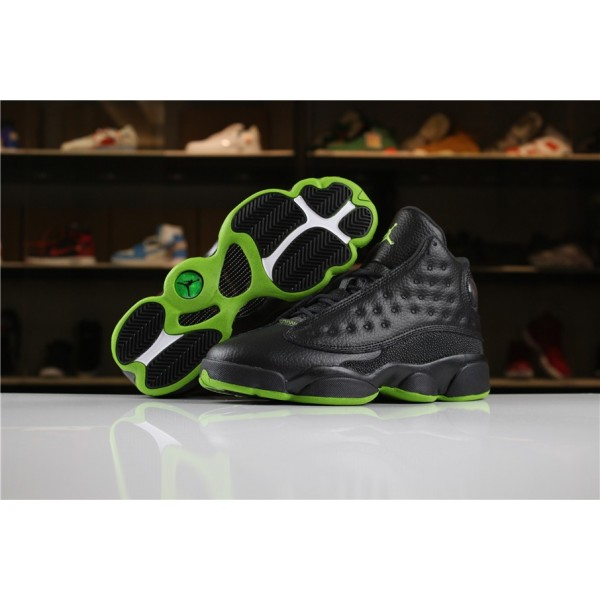 Women Air Jordan 13 Altitude Black-Altitude Green