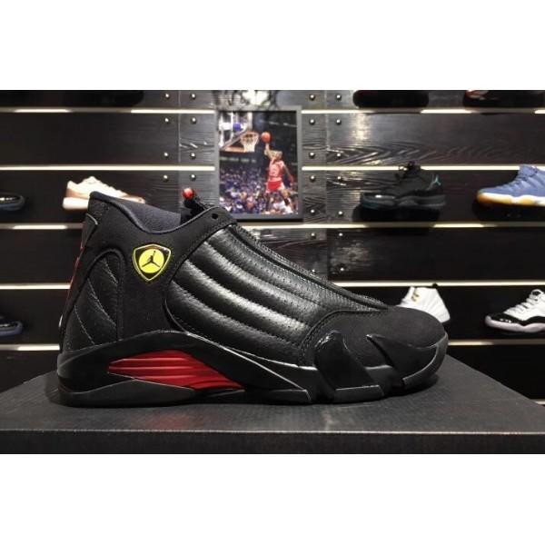 Men Air Jordan 14 Last Shot Black-Varsity Red