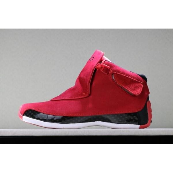 Men 2018 Air Jordan 18 Toro Gym Red-Black Shoes
