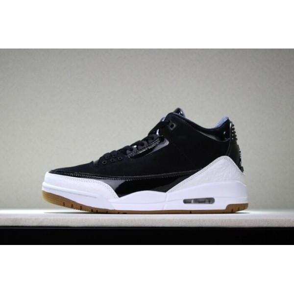 Men/Women 2018 Air Jordan 3 Black White Gum For and