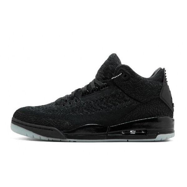 Men 2018s Air Jordan 3 Retro Flyknit Black