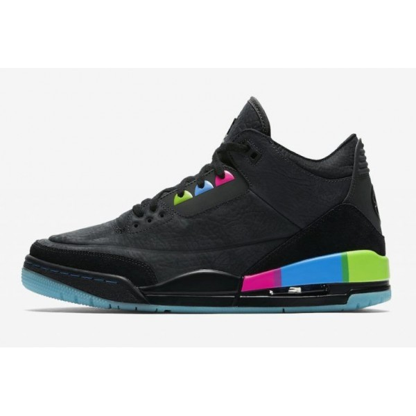 Men/Women 2018 Air Jordan 3 Retro Quai 54 Electric Green-Infrared Black