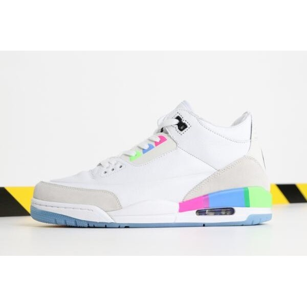 Men Air Jordan 3 Quai 54 White Electric Green-Infrared 23-Black