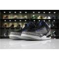 Men Fragment Design x Air Jordan 3 Retro Black Royal Blue-White