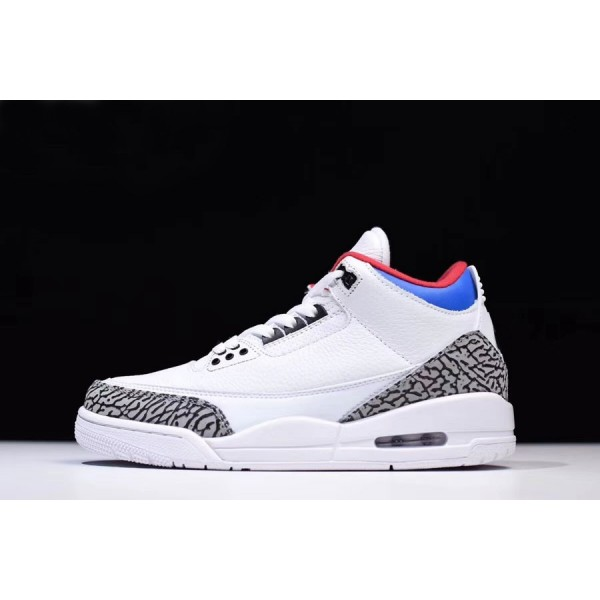 Men/Women Latest Air Jordan 3 NRG Seoul White Soar-Atom Red