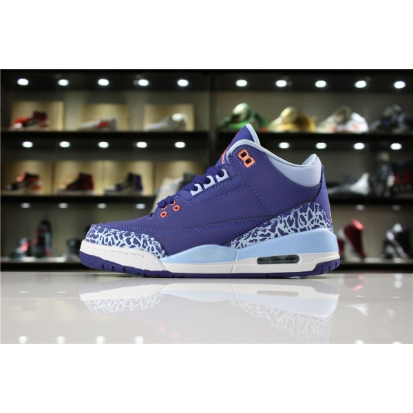 Women Air Jordan 3 Purple Dust Atomic Pink-Blue